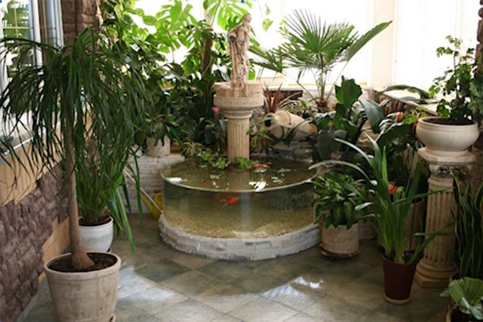 Интерьеры комнатных фонтанов